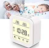 White Noise Machine, Sound Machine for Sleeping Baby, Portable Sleep Machine Alarm Clock for Bedroom with 27 HiFi Sound, Night Light, Temp & Humidity, Noise Machine for Office, Yoga, Home, Travel