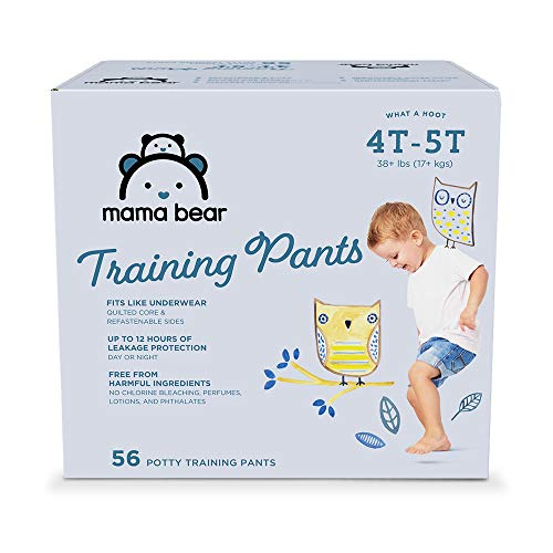 Amazon Brand - Mama Bear Training Pants For Boys 4T-5T, 56 Count