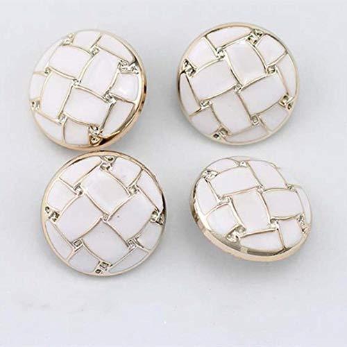 10st 18-30mm jas knop wit zwart wilde mode windjack decoratieve knop naaien DIY kleding accessoires, 1,30 mm