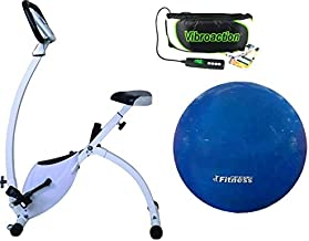 Fitness world CF-917EO Exercise Bike with with Yoga Ball and Slimming Massage Belt
