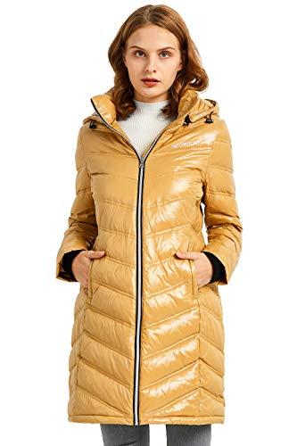 Orolay Chaqueta de Plumas Acolchada para Mujer Abrigo de Invierno Engrosado con Capucha Desmontable
