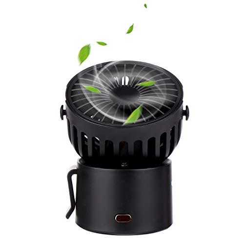 Ventilador de carga USB, portátil de mano, mini ventilador eléctrico para colgar en el cuello