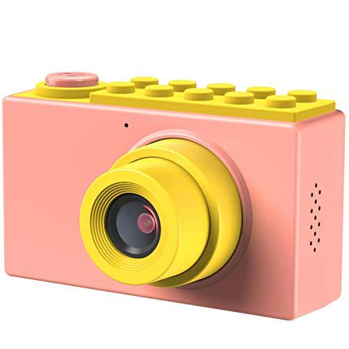 Kriogor Fotocamere Digitali per Bambini, Macchina Fotografica Bambini Videocamera Zoom Digitale con 1080P HD  8 Megapixel  2 Pollici LCD  Zoom Digitale 4X  Scheda TF da 256M.(Rosa)
