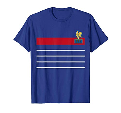 France Soccer Jersey Vintage French 1984 Retro T-Shirt