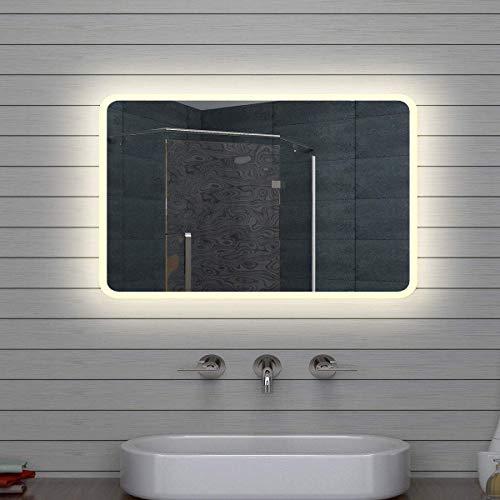 Lux-aqua - Specchio da bagno a LED, 70 x 50 cm, M1575, 70 x 50 x 3 cm