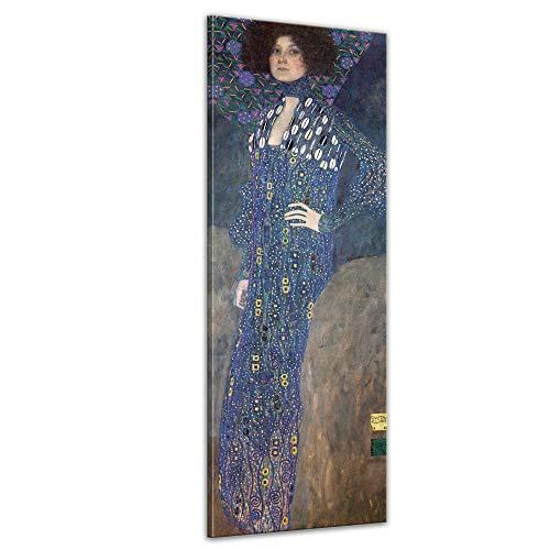 Keilrahmenbild Gustav Klimt Porträt der Emilie Flöge - 50x160cm hochkant - Alte Meister Berühmte...