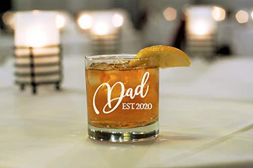 Lplpol - Regalo para papá, regalo para papá, anuncio para papá, anuncio para recién nacido, papá para ser, vaso de whisky, papá, anuncio de embarazo, papá est.