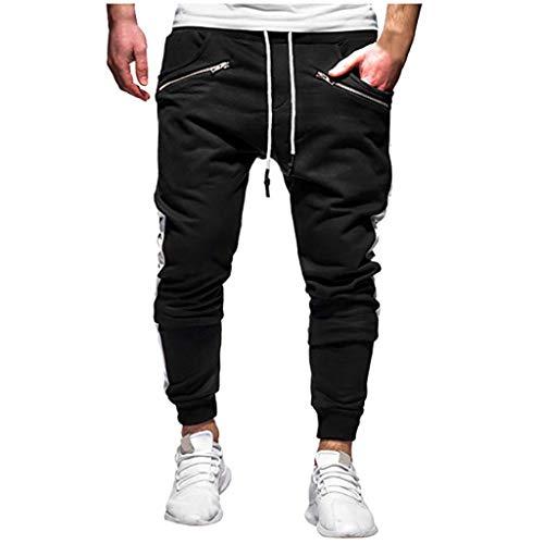 Huazi2 Pantalones Informales para Hombre, Bolsillo con Cremallera, Pantalones de Trabajo Deportivos XX-Large