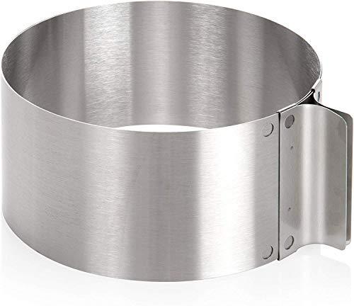Wenco Tortenring mit verstellbarem Durchmesser von 16 bis 30 cm, Rostfreier Edelstahl