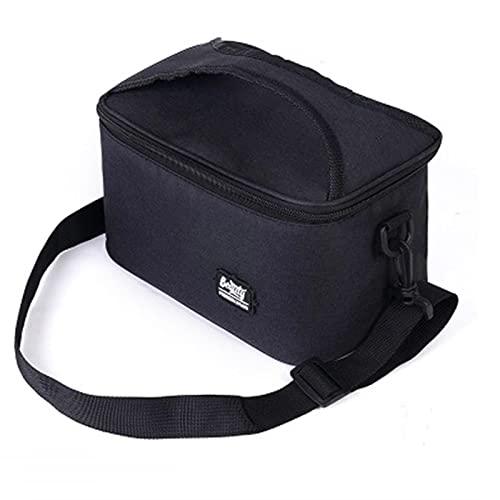 GOUYUAN Caja De Almuerzo Oxford Bag Hombres Mujeres Trabajo Comida Térmica Pollo Zipper Correa De Hombro Portátil Bolsa De Enfriador Aislada