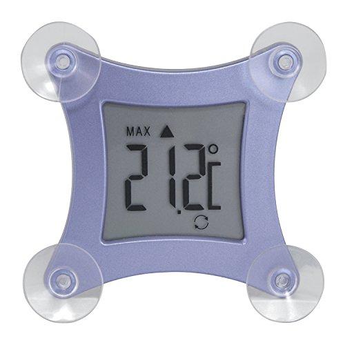 TFA Dostmann Poco Digitales Fensterthermometer, befestigbar durch Saugnäpfe, wetterfest, Temperaturtendenz