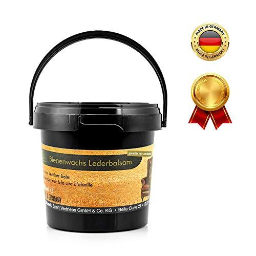 Equi-Deluxe Bienenwachs Leder-Balsam für die Pflege von Autositzen, Taschen und weiteres Glattleder   Optimale Lederpflege und Lederreinigung 500ml