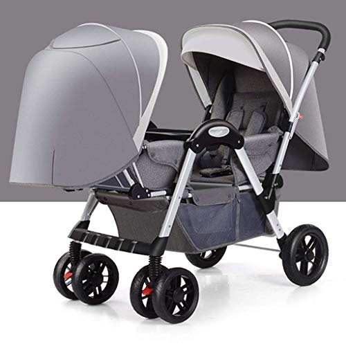 Review Comfortable Prams Twin Baby Stroller High Landscape Can Sit and Lay Light and Easy to Fold, S...