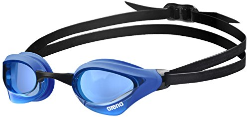 arena Unisex Training Wettkampf Schwimmbrille Cobra Core (UV-Schutz, Anti-Fog Beschichtung, Weiche Gläser), Blue-Blue (71), One Size