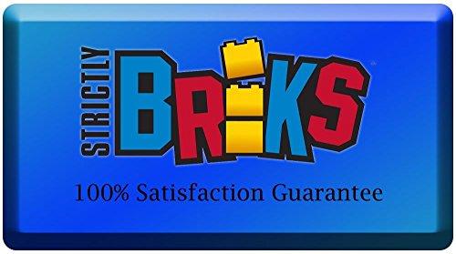 Strictly Briks Base apilable para Construir - Compatible con Todas Las Grandes Marcas - Tacos Grandes - 41,28 x 34,93 cm - Verde