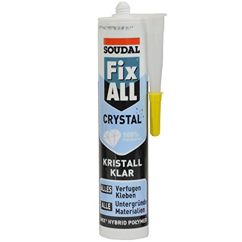 Kleb- Dichtstoff FIX ALL CRYSTAL 290ml kristallklar Spar- Set (3)