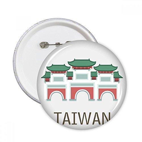 DIYthinker Lugares de Taiwán Templo de Confucio viaje redondo botones insignia del...