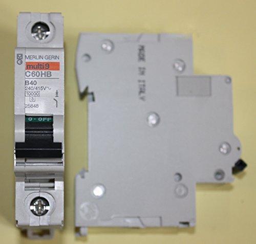 Suprema-optimizada MERLIN GERIN - C60HB140 - cuadro eléctrico, 40 A, 1POLE, tipo-b - (1 unidades) - Min 3 años garantía Cleva