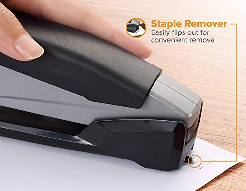 Bostitch Executive Stapler - 3 in 1 Stapler - One Finger, No Effort, Spring Powered Stapler, Black/Gray (INP20), 20 Sheets Photo #4