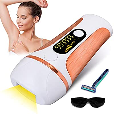 HALOVIE IPL Hair Removal Laser Hair Removal Device with 999,900 Flashes Painless Permanent Facial Hair Removal System for Body Face Bikini Underarms Leg Body Women Men Home Use from HALOVIE