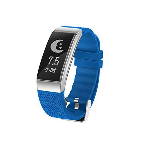 ZengBuks FIT18 Smart Wristband Sport Smart Bracciale Cardiofrequenzimetro Bracciale Fitness Uomo Fitness Tracker Smart Band - Blu
