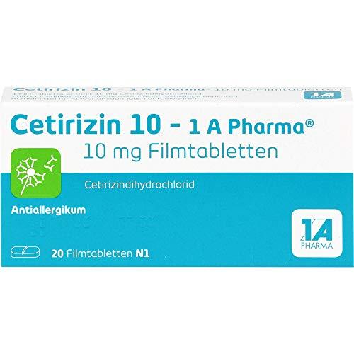 Cetirizin 10-1 A Pharma Filmtabletten Antiallergikum, 20 St. Tabletten