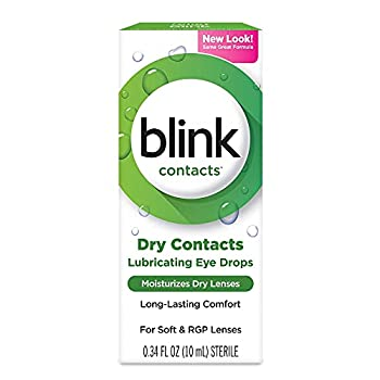 blink Contacts Lubricating Eye Drops 0.34 oz  Pack of 4