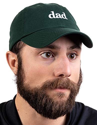 Ann Arbor T-shirt Co. Dad Hat   Funny Embroidered Baseball Cap Gift for Men Daddy Husband Father Joke - Forest Green