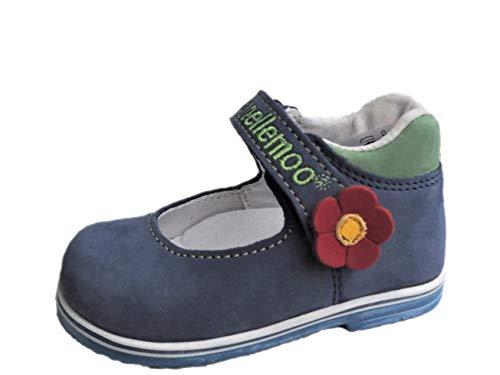 Ennellemoo® – baby-meisjes-kinder-ballerinas-echt leren schoenen, halfschoenen, pomps, slipper, loopschoenen, klittenbandsluiting, volledig lederen schoenen, ademend.