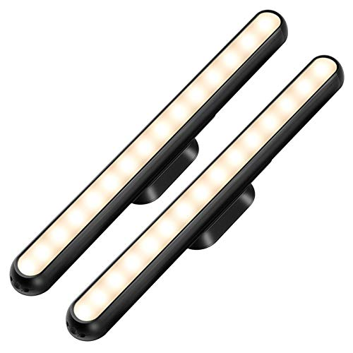 Dimmable Touch Bar Lights Wall Mounted Reading Light Wireless Stick on for Bunk Bed Headboard Closet Makeup Vanity Mirror Rechargeable Battery Powered LED Lamp Under Cabinet Lighting Gift for Kids