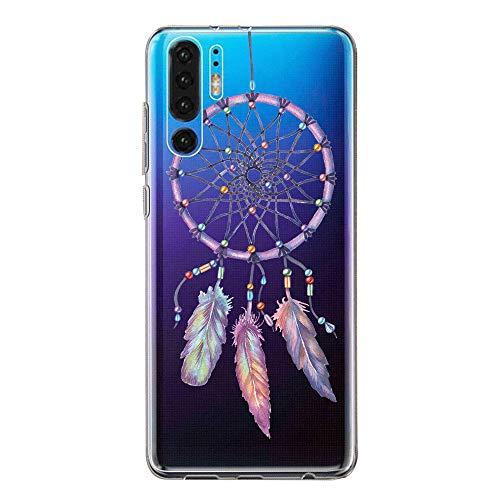 Hülle Case Kompatibel für Huawei P30 Handyhülle,Huawei P30 Pro Schutzhülle Ultradünn Transparent Silikon Soft TPU Crystal Clear Bumpe Schutzhülle für Huawei P30 Lite (8, Huawei P30)