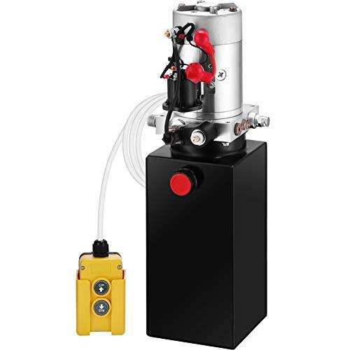 OldFe 8L Einfachwirkende Hydraulikaggregat 12V Hydraulikaggregat 4,5 m Hydraulikpumpe Acting Hydraulic Power Pack Tank Hand Pump