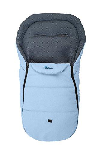Altabebe AL2450M-04 Sommerfußsack für alle gängigen Kinderwagen, Buggys und Jogger 3D Abstandsgewebe, 12-36 Monate, hellblau