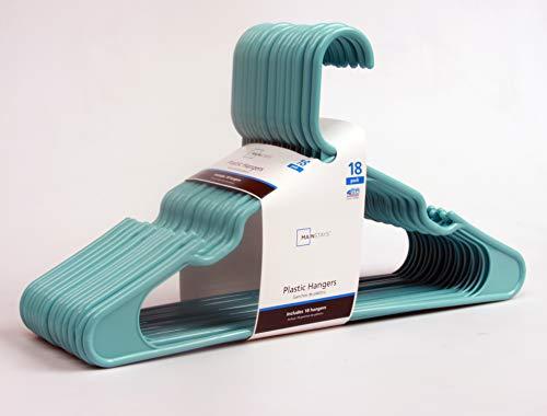 Mainstay 18-Pack Standard Plastic Hangers (Aqua Ocean, 1 Pack)