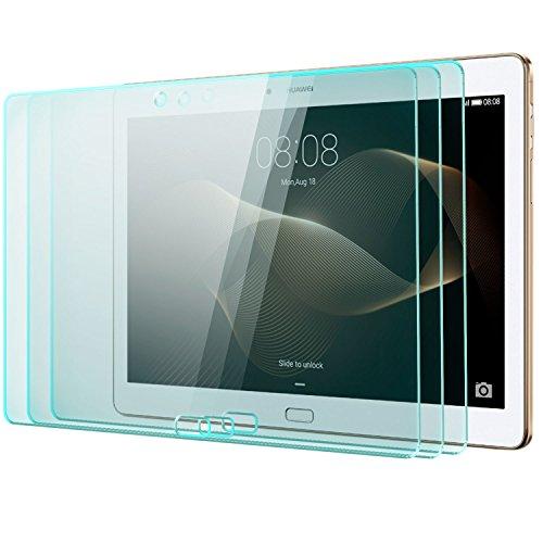 Saxonia zanasta 3 Stück Bildschirmschutz Glas kompatibel mit Huawei MediaPad M2 10.0 Folie aus Gehärtetem Glass (9H Festigkeitgrad) | Klar Transparent