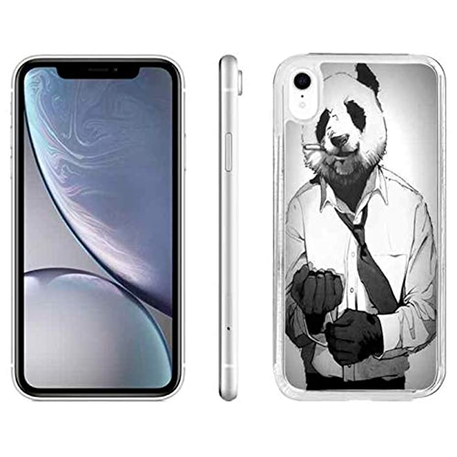 iPhone XR Protector Case iPhone XR Panda Case Panda Man iPhone XR Transparent Hard Case Cover Cool Panda Man Crystal Case for iPhone XR