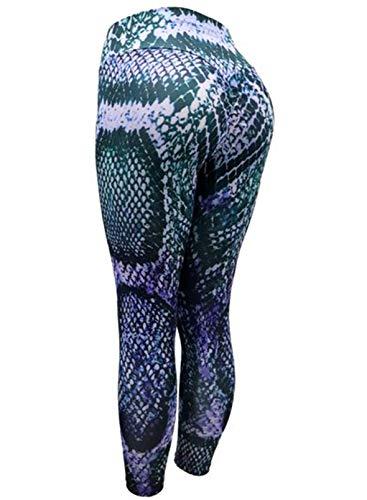 CORAFRITZ Leggings para mujer con estampado de piel de serpiente, cintura alta, pierna delgada, ajustada, para correr, pantalones deportivos