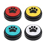 ChunHee Dog Speech Training Buttons Talking Sound Buttons-Recordable Buttons for Dogs-30 Seconds Record Button, Pack of 4 (Battery Included)