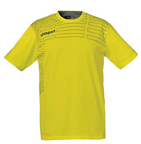 uhlsport Match Camiseta De Entrenamiento Hombre, Lima Amarillo/Negro, XL