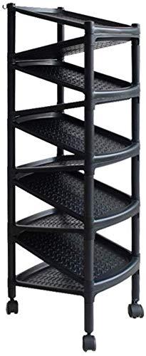Zapatero giratorio pequeño zapatero de plástico negro para entrada de dormitorio, zapatero de varias capas, con ruedas simple