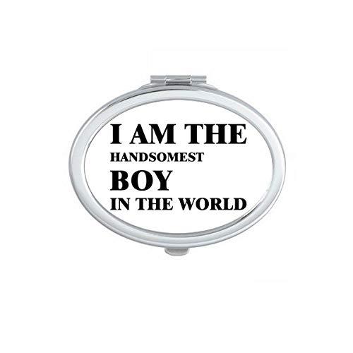 DIYthinker Je suis Le Maquillage Compact Boy Miroir Ovale Beau Portable Mignon Cadeau Miroirs de Poche à la Main Multicolor