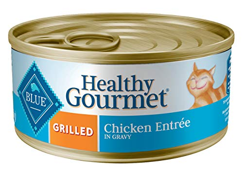 Blue Buffalo Healthy Gourmet Natural Adult Wet Cat Food Grilled Chicken 5.5-oz cans (Pack of 24)