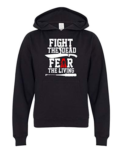 Moletom com capuz Fight The Dead, Fear The Living, Preto, S