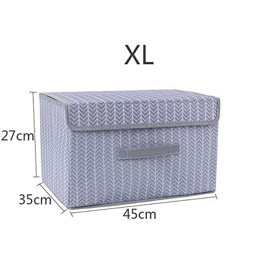 Yi Xuan Fashion Box di stoccaggio Pieghevole Giocattolo Deposito Box con Coperchio Creativo casa Armadio Camera da Letto Box Office Bagagli (Color : C3)