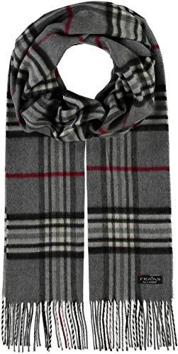 FRAAS Cashmink® Schal kariert für Damen & Herren - 35 x 200 cm - Made in Germany - Warmer XXL-Schal - Plaid Schal weicher als Kaschmir - Perfekt für den Winter Grau