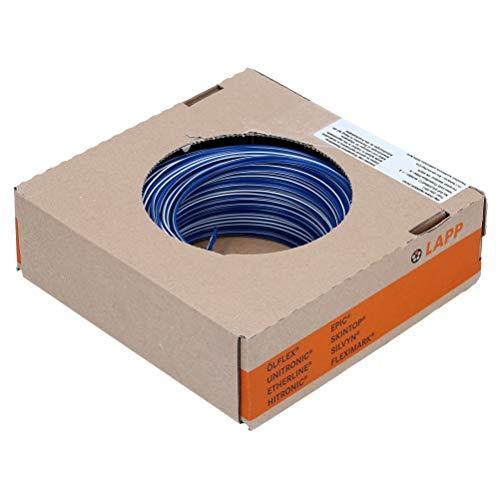100m Lapp 4520921 PVC Einzelader H07V-K 1,5 mm² dunkelblau-weiß zweifarbig