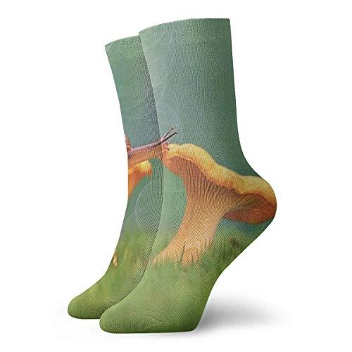 Drempad Luxury Sportsocken Mushroom and Snail Women & Men Socks Soccer Sock Sport Tube Stockings Length 11.8Inch