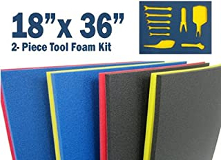 5S TOOL BOX SHADOW FOAM ORGANIZERS (2 COLOR) CUSTOM SIZE (18
