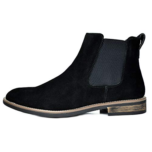 Bruno Marc Men's Urban-06 Black Suede Leather Chukka Ankle Boots – 14 M US