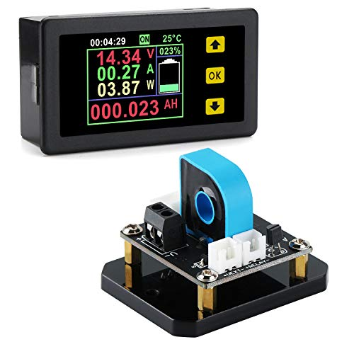 Digital Multimeter Panel DROK DC Voltmeter Ammeter 0120V 20A Voltage Current Power Capacity Energy Running Time Monitor Voltmeter Ammeter Battery ChargingDischarging Monitor